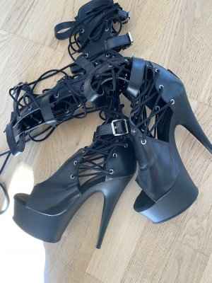 Pleaser Botte gothique noir