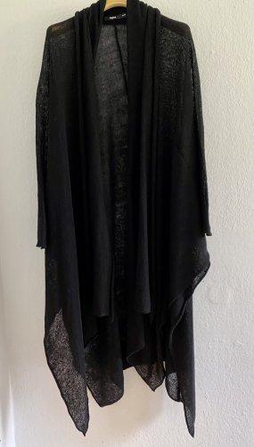 Tigha Cappotto a maglia nero Lino