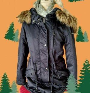 Esprit Manteau à capuche bleu foncé tissu mixte