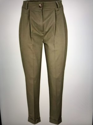 Heine Pantalone da equitazione cachi-grigio-verde Cotone