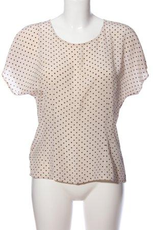 Fürnkranz Kurzarm-Bluse creme-schwarz Punktemuster Casual-Look