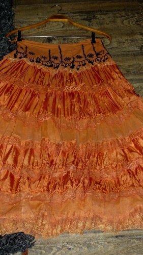Maxi rok donker oranje