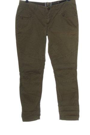 Fuga Spodnie khaki brązowy W stylu casual