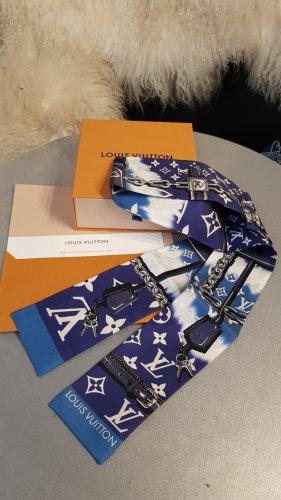 Louis Vuitton Zijden doek wit-blauw Zijde