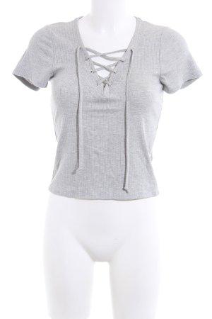 Full Tilt V-Ausschnitt-Shirt hellgrau meliert Casual-Look