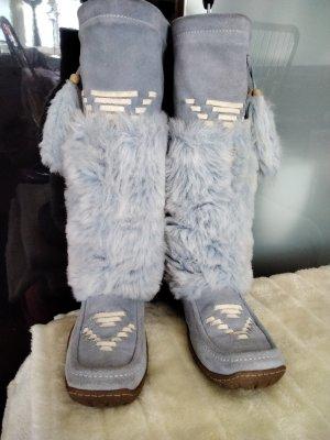 Fun&Co Futrzane buty błękitny