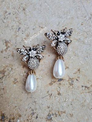 Vintage Love Boucles d'oreilles en perles blanc-argenté