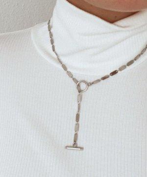 Funkelnde Y-Kette Silber