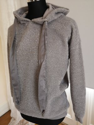 Only Hooded Sweater silver-colored-light grey