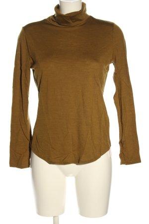 Funktion Schnitt Camisa de cuello de tortuga marrón look casual