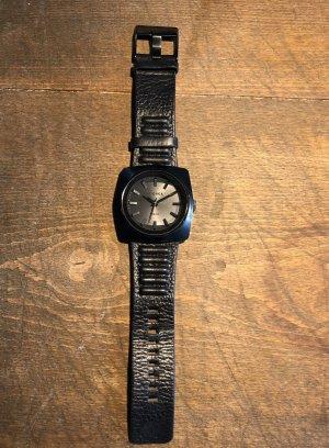 Diesel Zegarek ze skórzanym paskiem czarny Skóra
