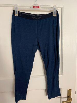 Pantalon en laine noir-bleu foncé