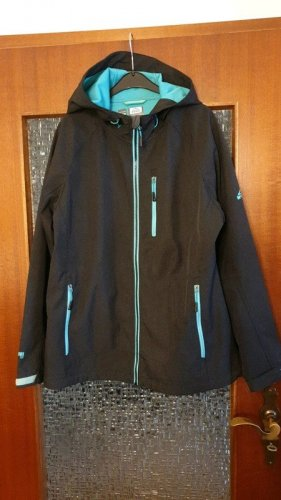 McKinley Giacca softshell antracite-turchese
