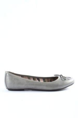 Funky Shoes faltbare Ballerinas hellgrau Casual-Look
