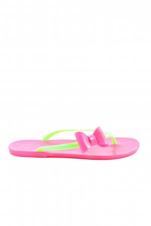 Funky Shoes Flip-Flop Sandals pink-green casual look