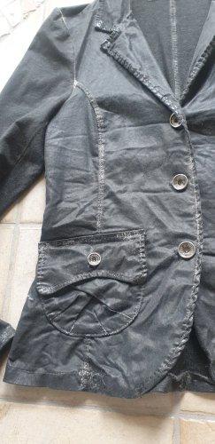 Funky Staff Blazer de tela de sudadera gris antracita