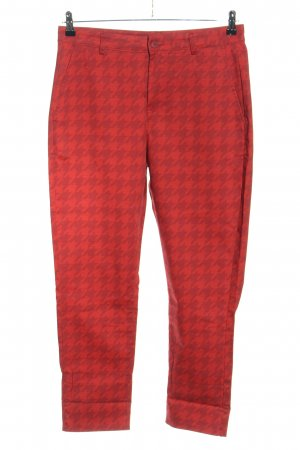 Funky Staff Chinohose rot abstraktes Muster Casual-Look