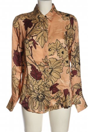 Funky Staff Shirt Blouse nude flower pattern business style
