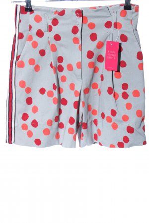 Funky Staff High-Waist-Shorts abstraktes Muster Casual-Look