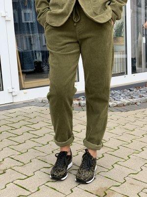 Funky Staff Pantalone di velluto a coste verde oliva