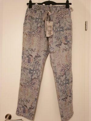 Funky Staff Pantalon de jogging argenté-gris clair coton