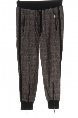 Funky Staff Jersey Pants black abstract pattern casual look