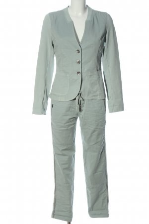 Funky Staff Knitted Twin Set light grey casual look