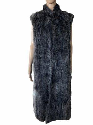Abrigo de piel gris antracita-gris oscuro Pelaje