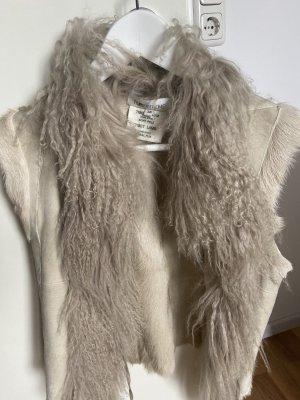 Smanicato di pelliccia crema