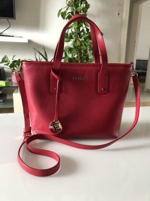 Furla Carry Bag dark red leather