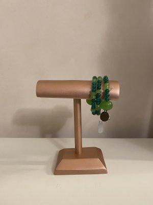 Furla Armband Smaragdgrün mit Anhänger NEU