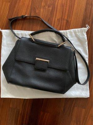 Furla Crossbody bag black-gold-colored leather