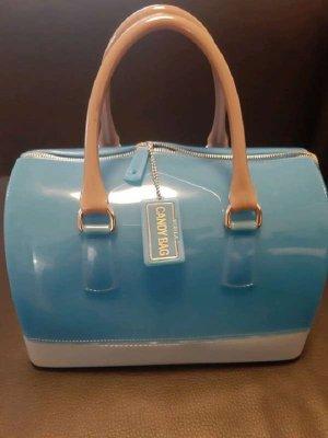 Furla Bowlingtas lichtblauw-lichtblauw Gemengd weefsel