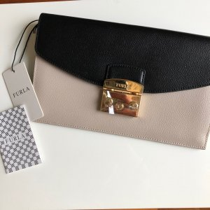 Furla Clutch Color Blocking Leder Handtasche neu