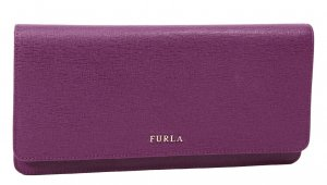 Furla Clutch in Lila aus Leder