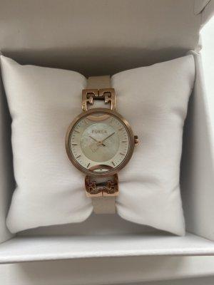 Furla Damen Armbanduhr rosé taupe Lederarmband NEU