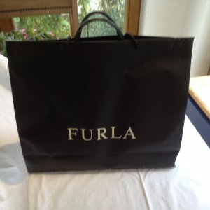 Furla Briefcase dark blue leather