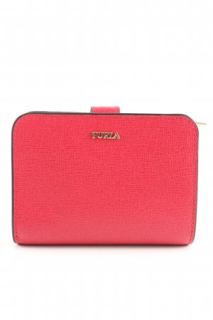 Furla Geldbörse rot Animalmuster Business-Look