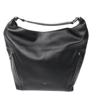 Furla Handgelenktasche in Schwarz aus Leder