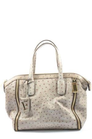 Furla Handtasche hellgrau Punktemuster Business-Look