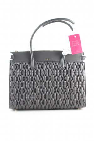 Furla Handtasche hellgrau Steppmuster Business-Look