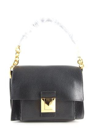 Furla Handtasche schwarz-goldfarben Business-Look
