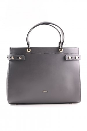 Furla Handtasche hellgrau Business-Look