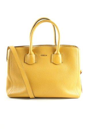 Furla Handtasche blassgelb Business-Look