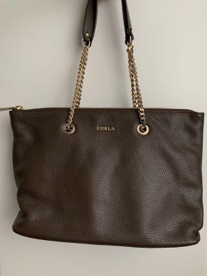 Furla Shoulder Bag dark brown-brown