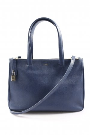 Furla Henkeltasche blau Business-Look