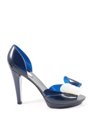 Furla High Heels blau-weiß Elegant