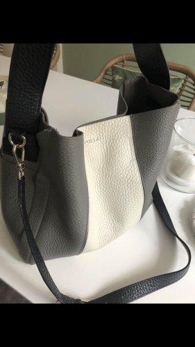 Furla Hobo Bag Medium Grau/Beige