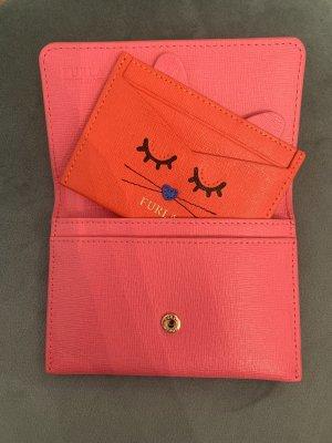 Furla Porte-cartes rose-rouge clair cuir