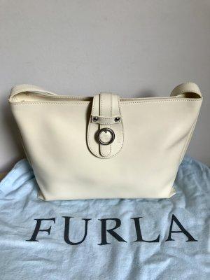 Furla Shoulder Bag white leather